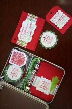 christmas gift tag tin