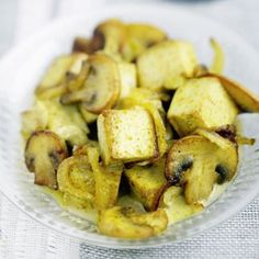 Tofu au curry et aux champignons Dairy Free Recipes, Raw Food Recipes, Veggie Recipes, Vegetarian Recipes, Cooking Recipes, Healthy Recipes, Veggie Food, Vegan Meals, Healthy Eating Recipes