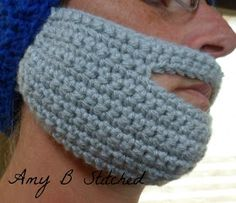 If you can't GROW one you might as well CROCHET one! A Stitch At A Time for Amy B Stitched: Crochet Beard Pattern. Crochet Beard Hat, Easy Crochet Hat, Free Crochet, Beanie Knitting Patterns Free, Crochet Patterns, Crochet Ideas, Crochet Projects, Hat Patterns, Crochet Stitches