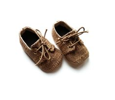 Charlie baby boys unisex honey brown or sand oxfords by lushbebe, £18.00