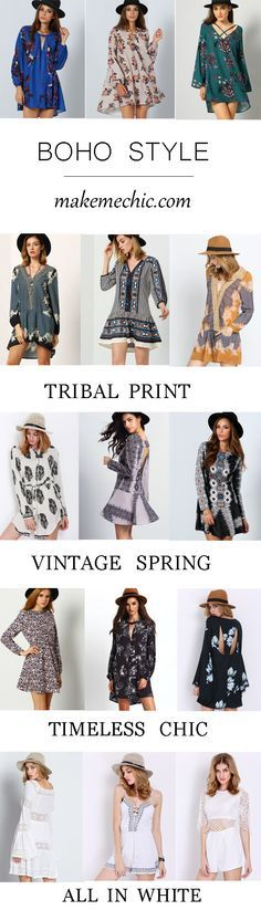 Shop the latest Boho looks with a modern update!  You deserve one for this spring / summer fashion. Only from $8.90, 20% Off 1st Order! View more at www.makemechic.com