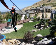zip line backyard -oh the fun to be had!