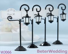 factory wholesale Bourbon Street Streetlight Place Card holders WJ066 use as birthday favours or wedding giveaways on AliExpress.com. 5% off $22.80