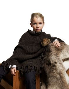 Petit Nord by Anders Hald winter 2012 wool poncho and caveman blanket for kids