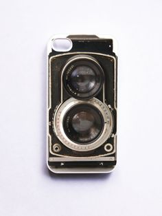 iPhone 4 Case Retro Twin Reflex Camera - White