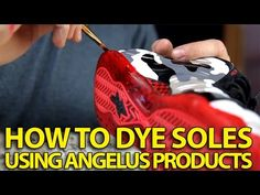 How to Make Sole Dye For Translucent/Icey Soles | Angelus Dye and Sole Bright - YouTube
