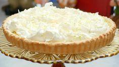Rijsttaart met limoen en kokos Dessert Cake Recipes, Dutch Recipes, Fodmap, No Bake Cake, Coco, Sweet Tooth, Good Food, Food And Drink, Pie