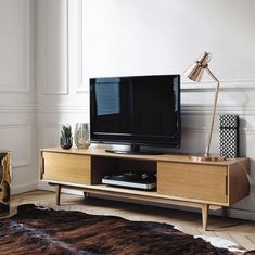 meuble tv vintage en bois style scandinave annees 50 70