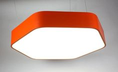 The new lamp HEXA - hexagonal luminaire with rounded edges is suitable for arranging sets in various shapes and sizes.