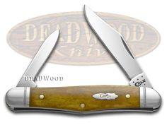 CASE XX Smooth Antique Bone Half Whittler Stainless Pocket Knife Knives