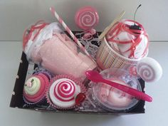 Basketful of Sweets  18 Pieces by babyxpresstwo on Etsy, $42.00