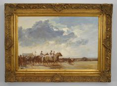 English Victorian picture sporting oil