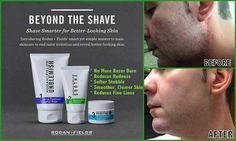 Does your husband complain about razor burn after shaving? Did you know that Rodan and Fields has a regimen for men called Beyond the Shave? By combining these 3 products, men will reduce redness, have softer stubble and enjoy smoother, clearer skin! #skincare #razorburn #rodan+fields