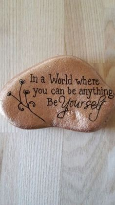 Best painted rock art ideas with quotes you can do (80)