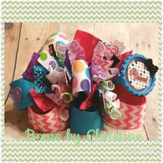 Weiner dog funky loopy bow...11.00