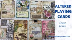 ALTERED PLAYING CARDS ~ USING UP SCRAPS What Is Alter, Journal Cards, Junk Journal, Journal Ideas, Diy Playing Cards, Paper Art, Paper Crafts, Art Journal Tutorial, Deck Of Cards