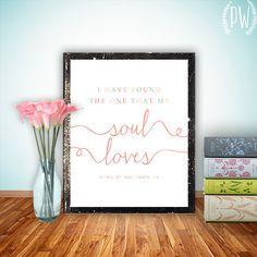 Bible verse art Print, scripture wedding decor wedding bible verses printable wall art decor poster, digital - Song of Solomon 3:4
