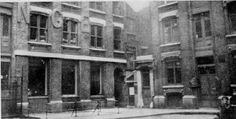 """Vintage photograph of Mitre Square, where Jack the Ripper's 4th victim, Catherine Eddowes was found on 30 September 1888 (the night of the """"double event"""")"""