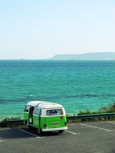 VW Camper Van by the Sea