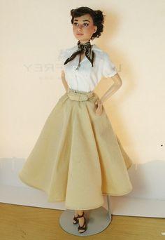 Audrey Hepburn OOAK doll repaint Roman Holiday