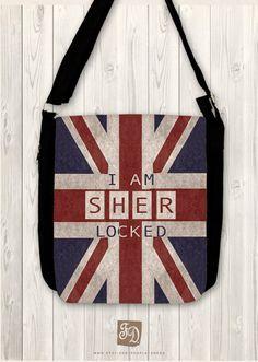 SHERlocked  SHERLOCK HOLMES  big shoulder bag  union by FeerieDoll, $43.00