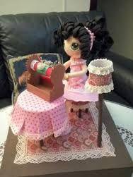 Encajera en goma eva Lace Art, Bobbin Lace, Photos, Miniatures, Dolls, Statues, Children, Cake, Ephemera