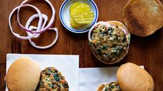Turkey-Spinach Sliders | Bon Appetit Recipe