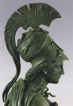 "theancientwayoflife: ""~Statue of Athene (""The Peiraeus Athena""). Medium: Bronze Date: 340—330 BCE. Athens, Archaeological Museum of Piraeus (Αθήνα, Αρχαιολογικό Μουσείο Πειραιά) """