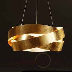 Trend Drei elegant ineinander verschlungene Metallringe mit edlem Blattgoldueberzug die dank d nnen Stahlseilen im