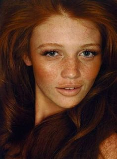 i do enjoy being a natural redhead.. i love freckles in the summer : )