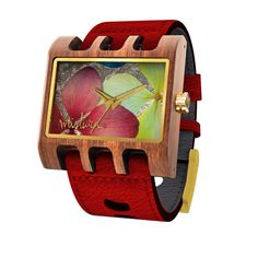 FREE US SHIPPING. Mistura Lenzo Santa Elena Women's Watch Red Leather Strap Multicolor Flower Dial. Authorized Mistura Retailer.