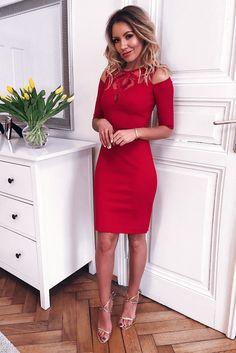 KHLOE CZERWONA SUKIENKA Bodycon Dress, Vogue, Dresses, Fashion, Vestidos, Moda, Body Con, Fashion Styles, Dress