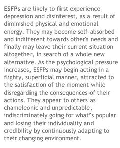 ESFP - under stress