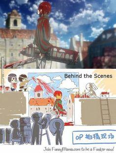 attack on titan, shingeki no kyojin, Actor AU is my favorite thing right now! attack on titan, shing Armin, Mikasa, Attack On Titan Meme, Attack On Titan Fanart, Anime Meme, Aot Memes, Funny Memes, Funny Pics, Por Tras Das Cameras