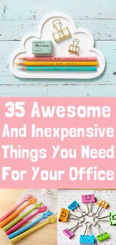 35 Insanely Awesome And Inexpensive Things You Need For Your Desk-- and I want all of them!