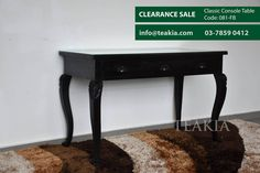 https://flic.kr/p/Dw7bDL | 23550372_1699580800054813_5831933742935899857_o | teak wood console table cum wriring desk availabe at teakia bukit jelutong under clearace sale, Its dimensions are 120x60cm