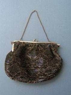 Vintage 1960s Black and Gold Evening Bag by QueensParkVintage, $35.00