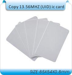 Бесплатная доставка 50 шт. UID карты IC сменные 0 сектор ic карты для 1 К (S-50) 13.56 МГЦ/Iso 14443A карты блок 0 сектора записи