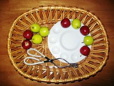 Přenášení jablíček kleštičkami