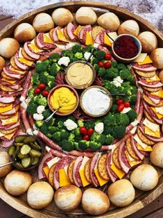 Party Ham Rolls Charcuterie Board is a favorite dinner board for a large gathering. Layer your favorite cheese, ham, salami, and pickles on a French roll. Charcuterie Recipes, Charcuterie Platter, Charcuterie And Cheese Board, Party Food Platters, Food Trays, Cheese Platters, Party Trays, Dinner Party Recipes, Appetizers For Party