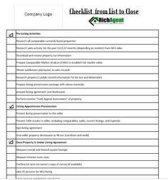 Formulaire personnalisable vous permet dajouter votre logo dentreprise. Utilisez cette liste de 4 pages pour aider à organiser et automatiser votre processus dinscription. Chaque agent immobilier à chaque étape de cette forme sera à pied et vous noublierez jamais une étape encore une fois. Housses de liste de contrôle -Liste des tâches -inscription sur RDV -le prix de limmobilier de marketing -gérer et mettre à jour les vendeurs -réception dune offre et dobtenir à la fermeture -suivi après…