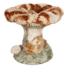 1800s French Trompe L'Oeil Mushroom Stool, formerly the property of Madeleine Castaing of Paris.