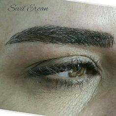Mikropigmentasyon kıl tekniği kaş uygulaması #eyebrows #makeup #fashıon #kaştasarımı sevilercan
