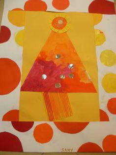 Noël rouge jaune orange