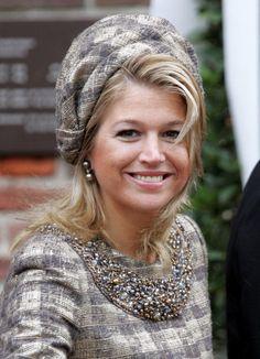 Princess Máxima, 22 Oktober, 2005. Ze draagt een hoed van Fabienne Delvigne.
