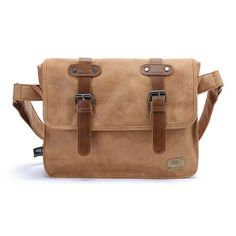 Gumstyle Vintage Style Frosted Pu Leather Men Business Briefcase Laptop Messenger Bag * Check this awesome product by going to the link at the image.