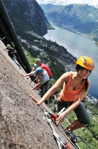 Enjoy beautiful views when climbing the via ferrata in Tyssedal, Norway - Photo: visitnorway.com/Chris Lorang Arnesen