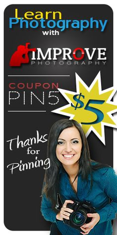 Get 5 bucks off an online photography class just by repinning!