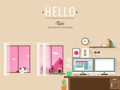 Hello dribbble first shot by Rian Darma