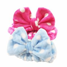 Amazon.com : 2 Pack Hairizone Makeup Headbands for Washing Face Shower Spa Mask, Soft and Cute Big Bow Hair Bands for Women and Girls (Light Blue/Roseo) : Beauty